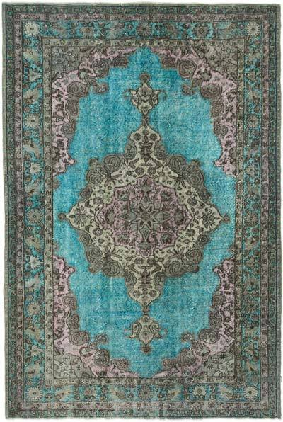 """Hand Carved Over-Dyed Rug - 5' 11"""" x 8' 11"""" (71 in. x 107 in.)"""