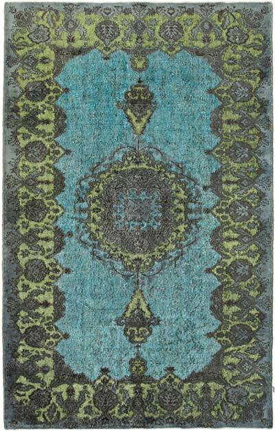 """Hand Carved Over-Dyed Rug - 5' 6"""" x 8' 8"""" (66 in. x 104 in.)"""