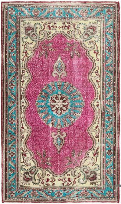 """Hand Carved Over-Dyed Rug - 6' 4"""" x 10' 7"""" (76 in. x 127 in.)"""