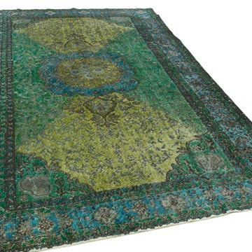 """Hand Carved Over-Dyed Rug - 5' 11"""" x 9' 5"""" (71 in. x 113 in.) - K0051644"""