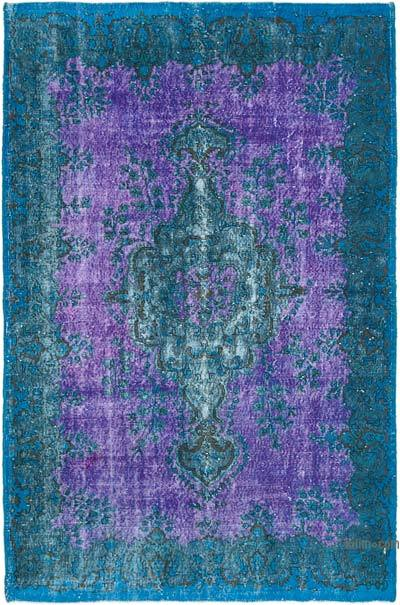 """Hand Carved Over-Dyed Rug - 5' 10"""" x 8' 11"""" (70 in. x 107 in.)"""