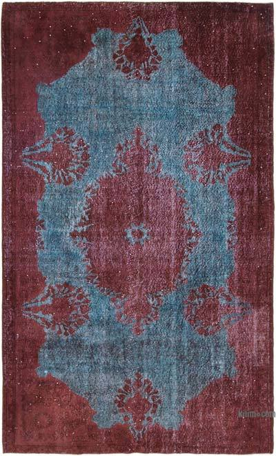"""Red Hand Carved Over-Dyed Rug - 5' 8"""" x 9' 6"""" (68 in. x 114 in.)"""