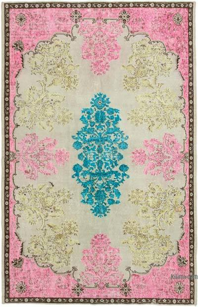 """Hand Carved Over-Dyed Rug - 6' 3"""" x 9' 6"""" (75 in. x 114 in.)"""