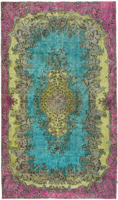 """Hand Carved Over-Dyed Rug - 5' 2"""" x 8' 11"""" (62 in. x 107 in.)"""