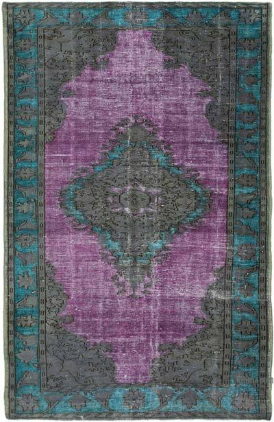 """Hand Carved Over-Dyed Rug - 6'  x 9' 7"""" (72 in. x 115 in.)"""