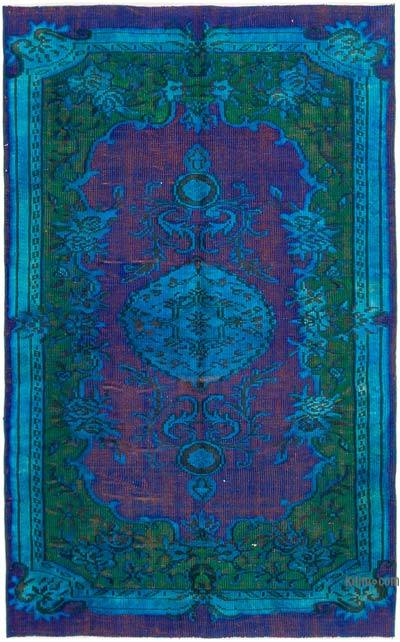 Hand Carved Over-Dyed Rug - 5'  x 8'  (60 in. x 96 in.)