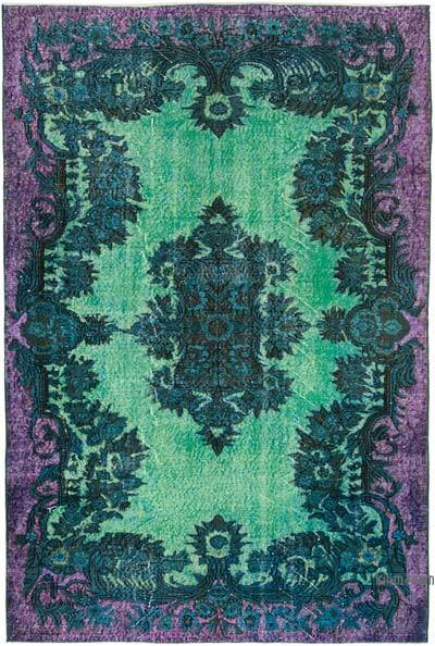 """Hand Carved Over-Dyed Rug - 5' 9"""" x 8' 7"""" (69 in. x 103 in.)"""