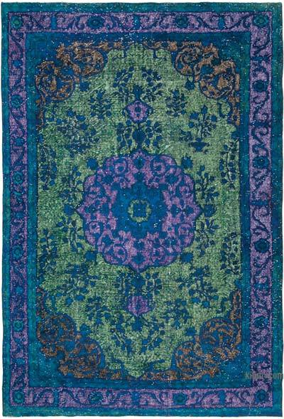 """Hand Carved Over-Dyed Rug - 7' 2"""" x 10' 7"""" (86 in. x 127 in.)"""