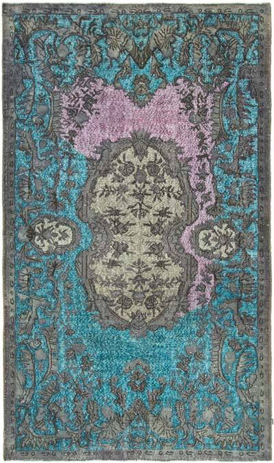 """Hand Carved Over-Dyed Rug - 5' 4"""" x 9' 2"""" (64 in. x 110 in.)"""