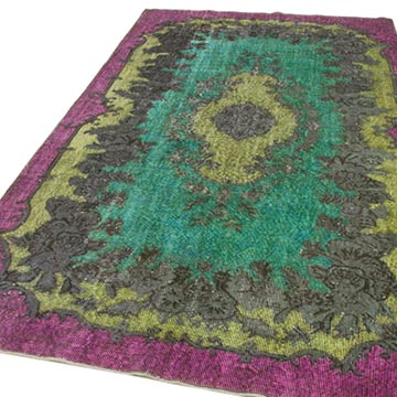 """Hand Carved Over-Dyed Rug - 5' 7"""" x 10' 1"""" (67 in. x 121 in.) - K0051688"""