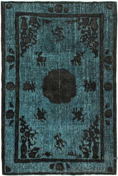 "Hand Carved Over-Dyed Rug - 6' 11"" x 10' 3"" (83 in. x 123 in.)"