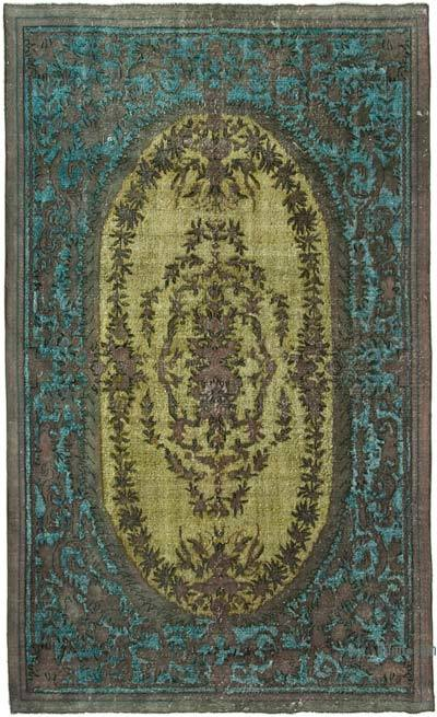 """Hand Carved Over-Dyed Rug - 6' 8"""" x 10' 11"""" (80 in. x 131 in.)"""
