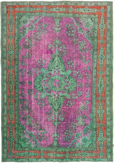 """Hand Carved Over-Dyed Rug - 7' 2"""" x 10' 4"""" (86 in. x 124 in.)"""