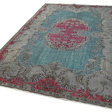 """Hand Carved Over-Dyed Rug - 6' 7"""" x 10' 4"""" (79 in. x 124 in.) - K0051697"""