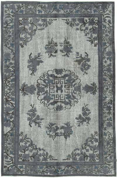 """Hand Carved Over-Dyed Rug - 5' 11"""" x 9' 1"""" (71 in. x 109 in.)"""