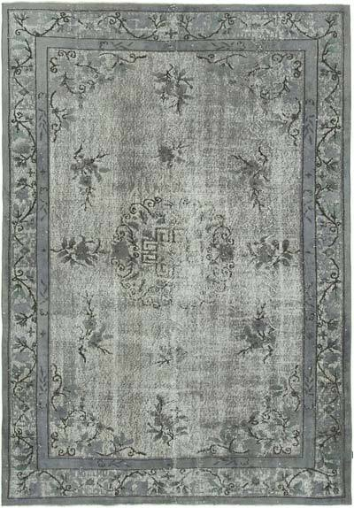 """Hand Carved Over-Dyed Rug - 6' 7"""" x 9' 7"""" (79 in. x 115 in.)"""