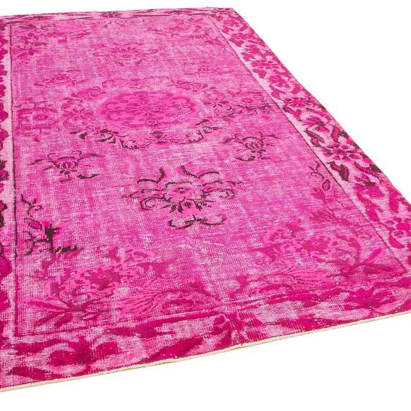 Pembe El Oyması Boyalı Halı - 191 cm x 300 cm - K0051729