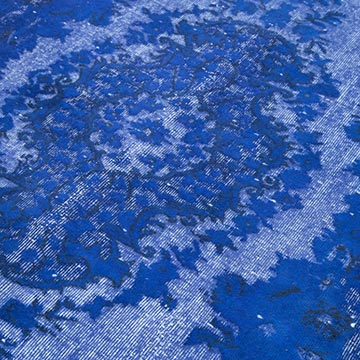 """Blue Hand Carved Over-Dyed Rug - 5' 9"""" x 8' 11"""" (69 in. x 107 in.) - K0051741"""