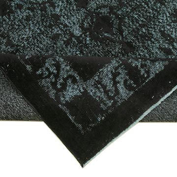 """Black Hand Carved Over-Dyed Rug - 5' 3"""" x 8' 11"""" (63 in. x 107 in.) - K0051750"""