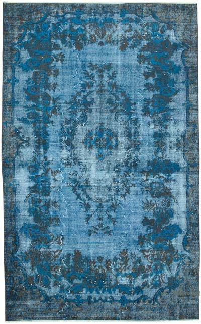 "Hand Carved Over-Dyed Rug - 5' 5"" x 8' 11"" (65 in. x 107 in.)"
