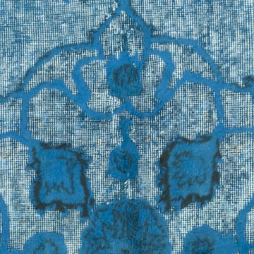 """Blue Hand Carved Over-Dyed Rug - 5'  x 8' 8"""" (60 in. x 104 in.) - K0051776"""