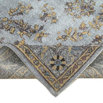 """Grey Hand Carved Over-Dyed Rug - 7' 3"""" x 10' 6"""" (87 in. x 126 in.) - K0051785"""