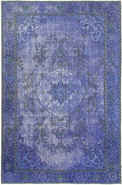 """Hand Carved Over-Dyed Rug - 5' 11"""" x 9'  (71 in. x 108 in.)"""