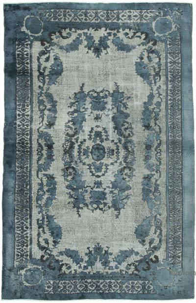 """Hand Carved Over-Dyed Rug - 5' 8"""" x 9'  (68 in. x 108 in.)"""