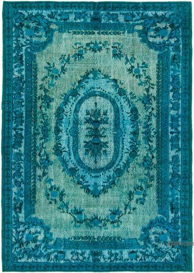 """Hand Carved Over-Dyed Rug - 7' 1"""" x 10' 1"""" (85 in. x 121 in.)"""