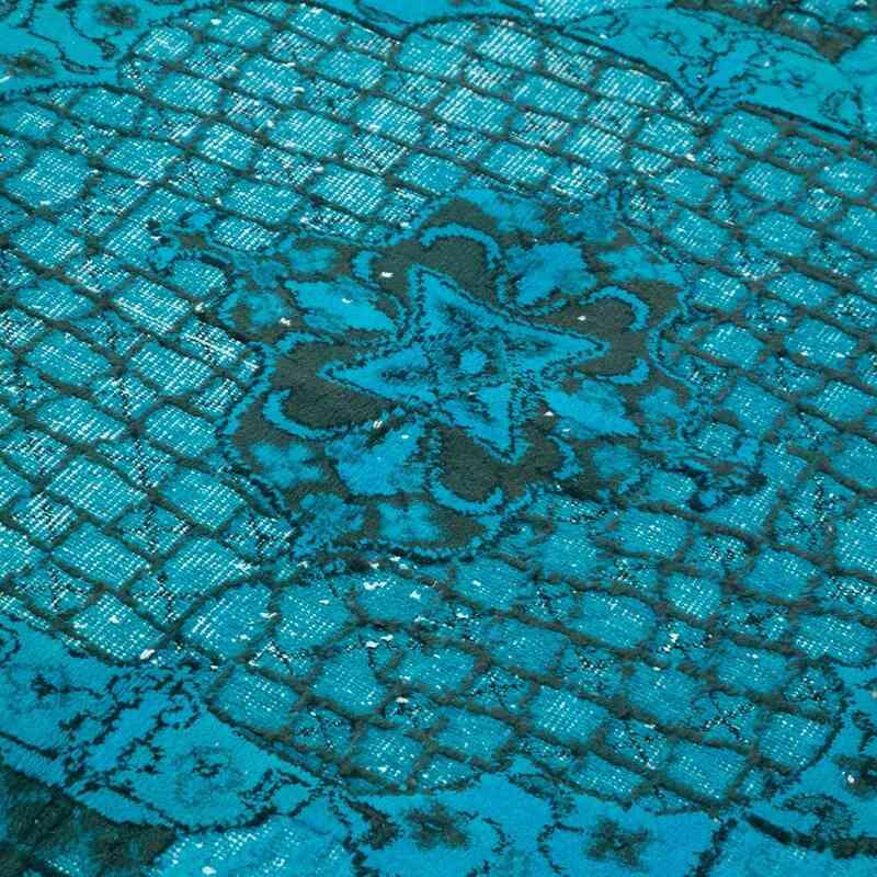 Mavi-Yeşil El Oyması Boyalı Halı - 183 cm x 270 cm - K0051817