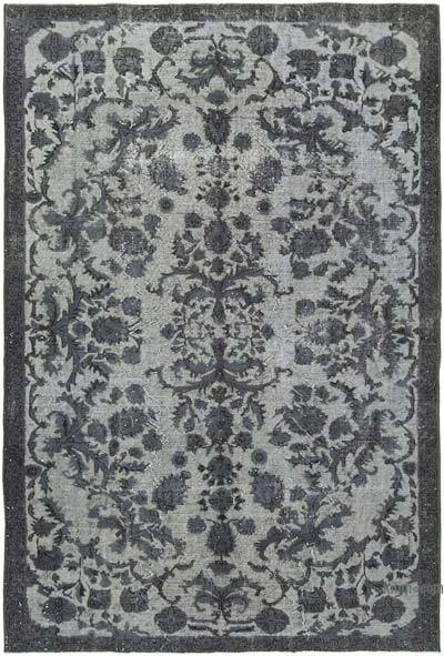 """Hand Carved Over-Dyed Rug - 6' 3"""" x 9' 1"""" (75 in. x 109 in.)"""