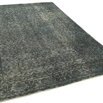Grey Hand Carved Over-Dyed Rug - 6' 11# x 10' 3# (83 in. x 123 in.) - K0051848