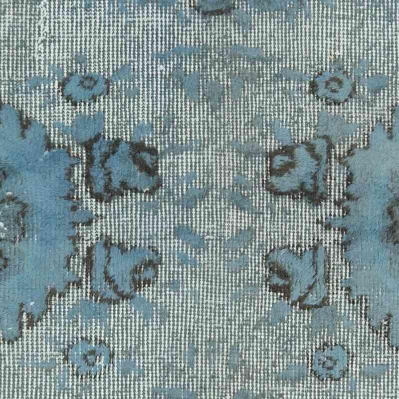 Lacivert El Oyması Boyalı Halı - 170 cm x 300 cm - K0051861