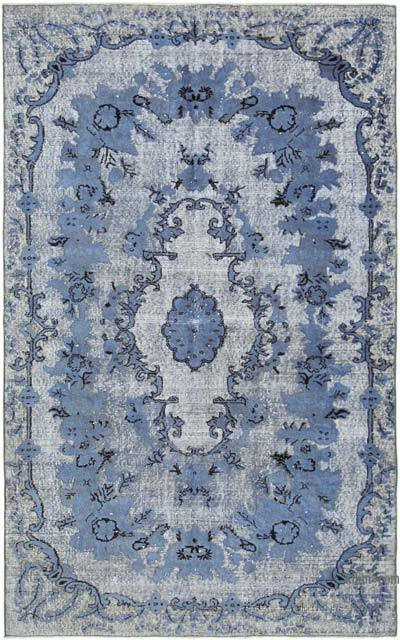 """Purple Hand Carved Over-Dyed Rug - 5' 3"""" x 8' 7"""" (63 in. x 103 in.)"""