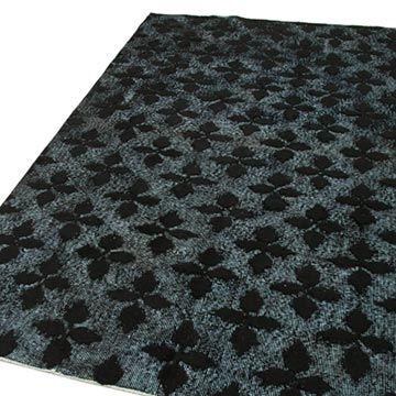 """Black Hand Carved Over-Dyed Rug - 5' 1"""" x 8' 5"""" (61 in. x 101 in.) - K0051876"""
