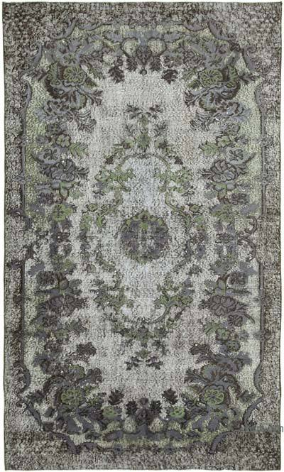 """Hand Carved Over-Dyed Rug - 5' 1"""" x 8' 7"""" (61 in. x 103 in.)"""