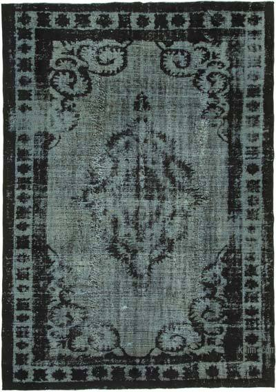 """Black Hand Carved Over-Dyed Rug - 7'  x 10' 2"""" (84 in. x 122 in.)"""