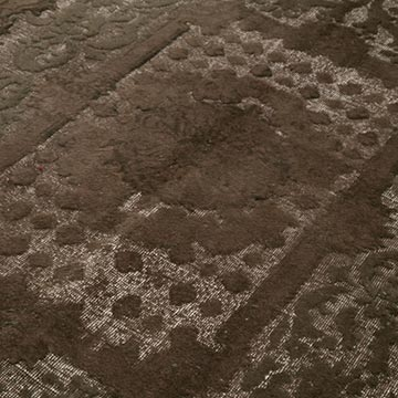 Brown Hand Carved Over-Dyed Rug - 6' 9# x 10' 3# (81 in. x 123 in.) - K0051911