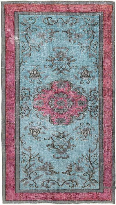 "Hand Carved Over-Dyed Rug - 4' 7"" x 8' 2"" (55 in. x 98 in.)"