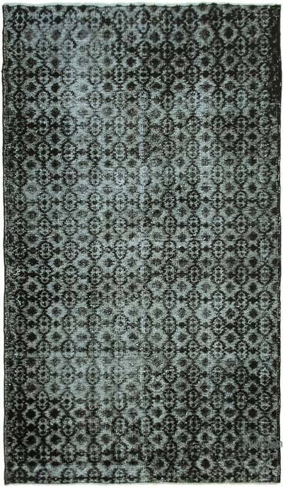 """Hand Carved Over-Dyed Rug - 4' 6"""" x 7' 8"""" (54 in. x 92 in.)"""