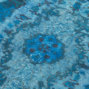 """Aqua Hand Carved Over-Dyed Rug - 3' 10"""" x 6' 7"""" (46 in. x 79 in.) - K0051928"""
