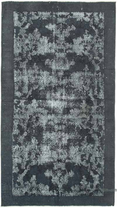 "Grey Hand Carved Over-Dyed Rug - 3' 7"" x 6' 8"" (43 in. x 80 in.)"