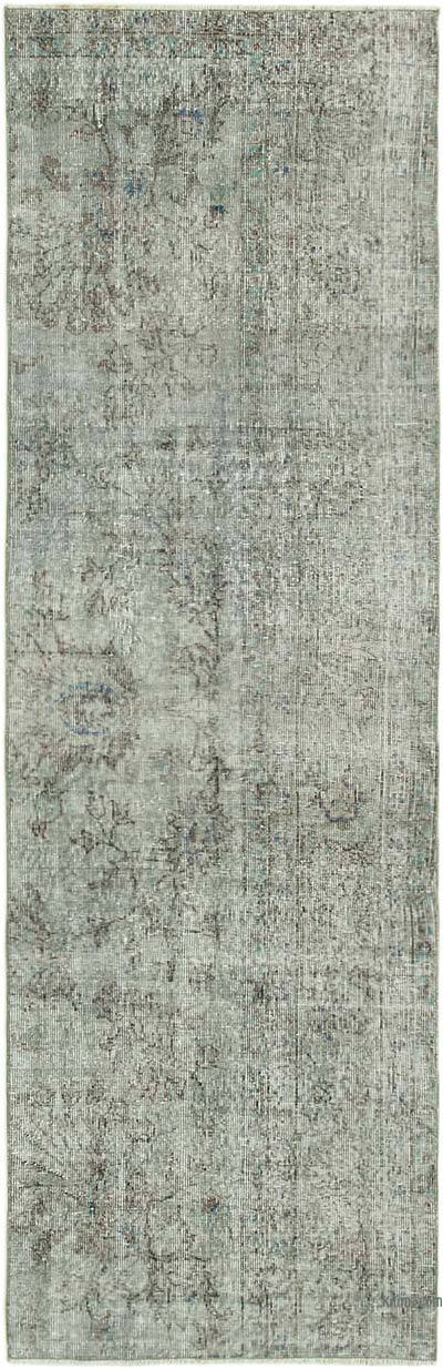 "Over-dyed Turkish Vintage Runner Rug - 2' 7"" x 8' 1"" (31 in. x 97 in.)"