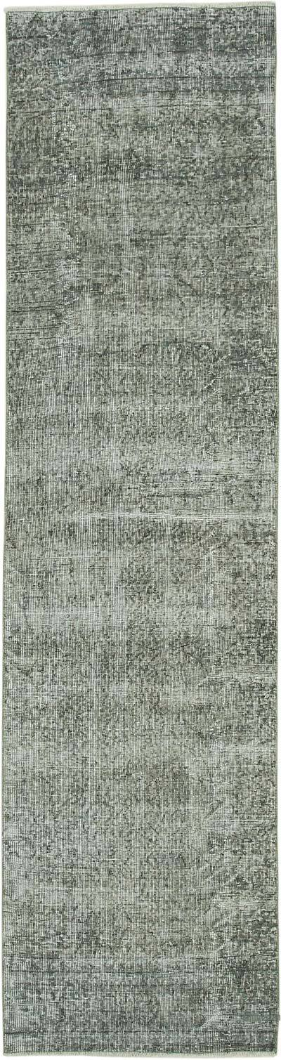 """Over-dyed Turkish Vintage Runner Rug - 2' 7"""" x 10' 1"""" (31 in. x 121 in.)"""