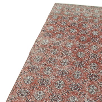 Red Over-dyed Turkish Vintage Runner Rug - 3'  x 11'  (36 in. x 132 in.) - K0052160