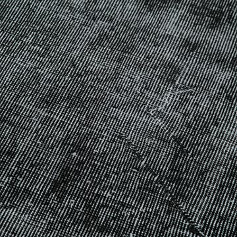 "Black Over-dyed Turkish Vintage Runner Rug - 2' 11"" x 10'  (35 in. x 120 in.) - K0052195"