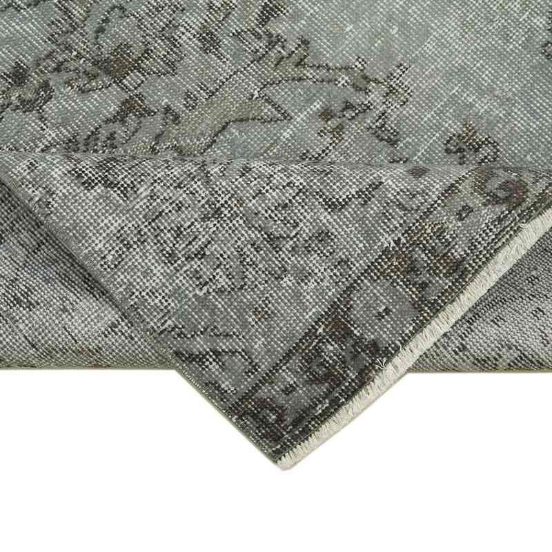 "Grey Over-dyed Turkish Vintage Runner Rug - 2' 11"" x 9' 11"" (35 in. x 119 in.) - K0052200"