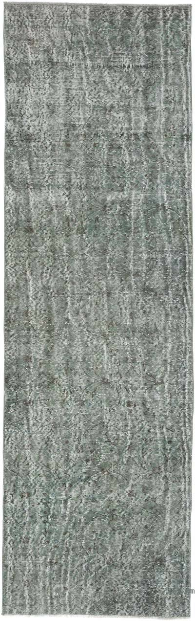 "Over-dyed Turkish Vintage Runner Rug - 2' 7"" x 8' 5"" (31 in. x 101 in.)"
