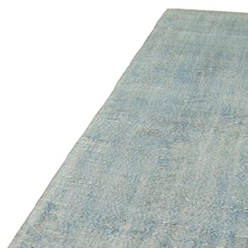 "Blue Over-dyed Turkish Vintage Runner Rug - 2' 11"" x 10' 11"" (35 in. x 131 in.) - K0052258"