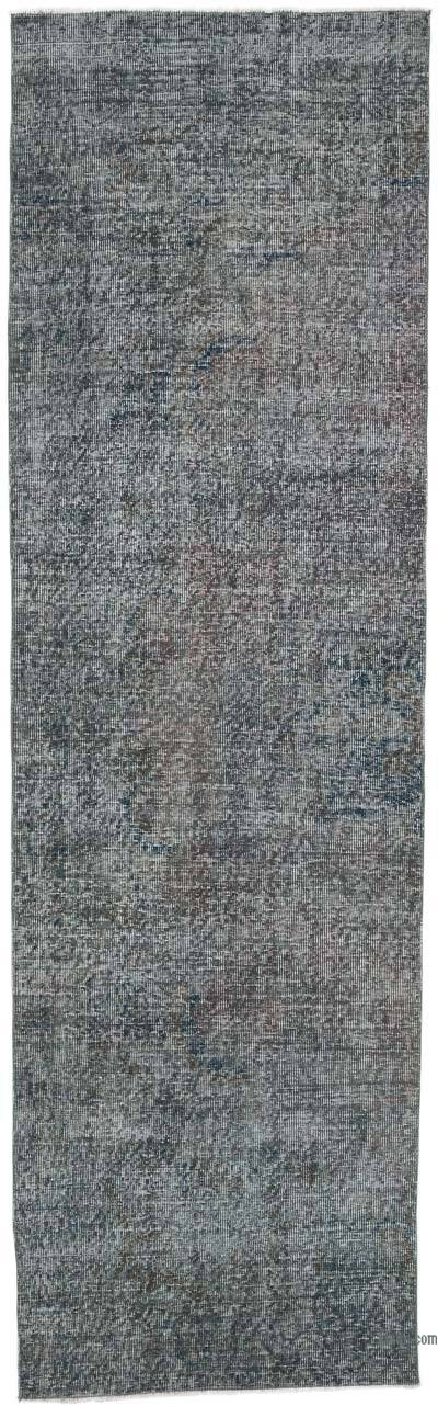 """Over-dyed Turkish Vintage Runner Rug - 3'  x 10' 2"""" (36 in. x 122 in.)"""